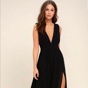 LuLu's Heavenly Hue black dress
